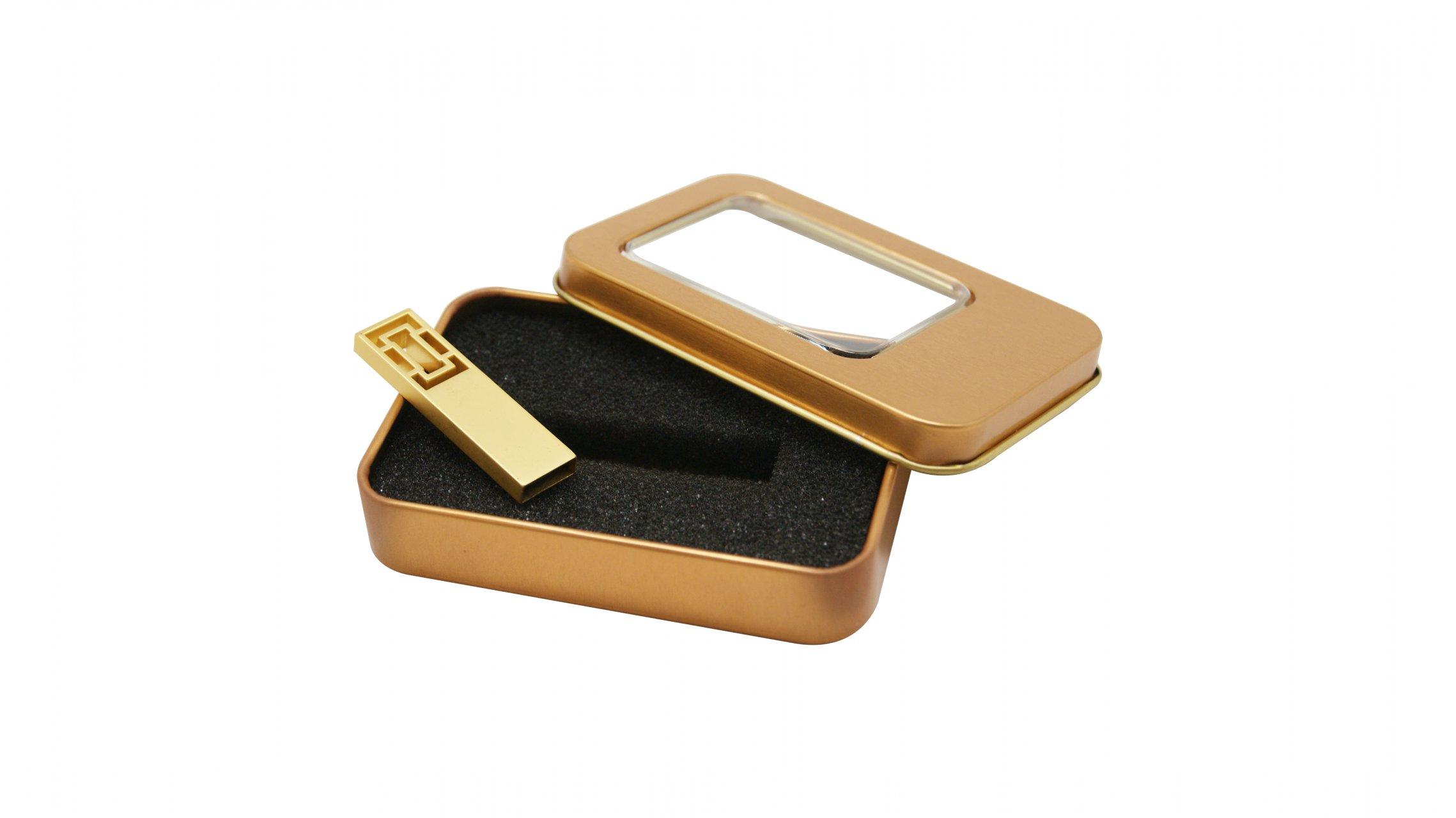 فلش مموری لوکس طلایی مدل V27 طلایی ظرفیت 8 گیگابایت+جعبه