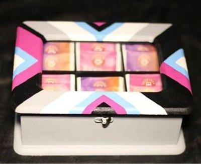 جعبه دمنوش طرح رنگینه