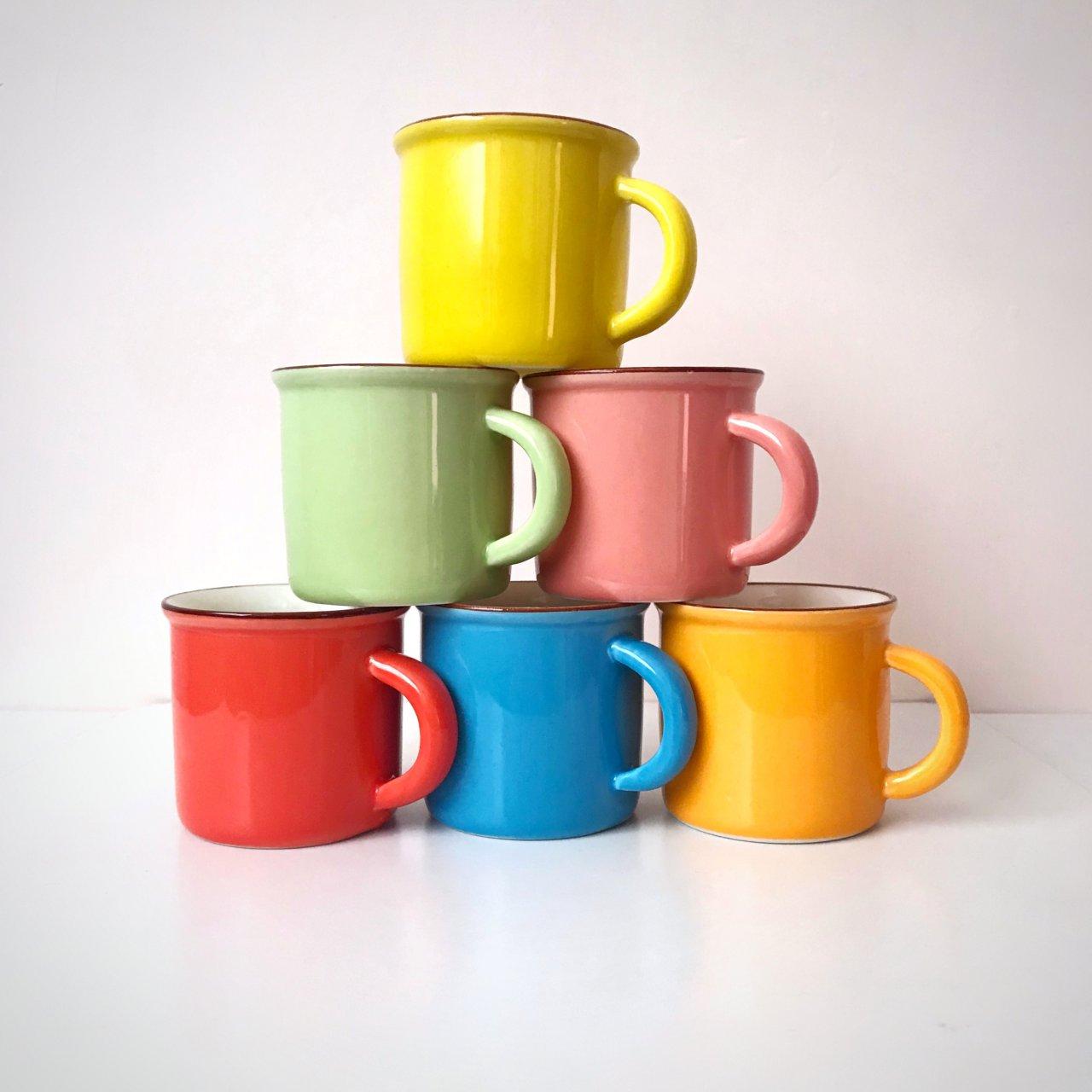 فنجان رنگی قهوه ۶ عددی