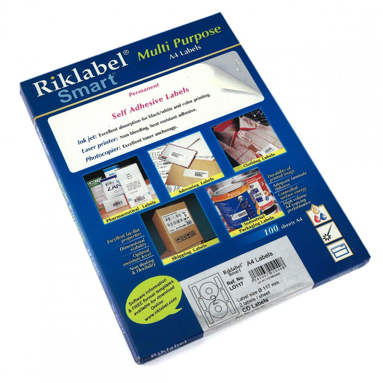 لیبل مخصوص CD و DVD مارک RikLabel