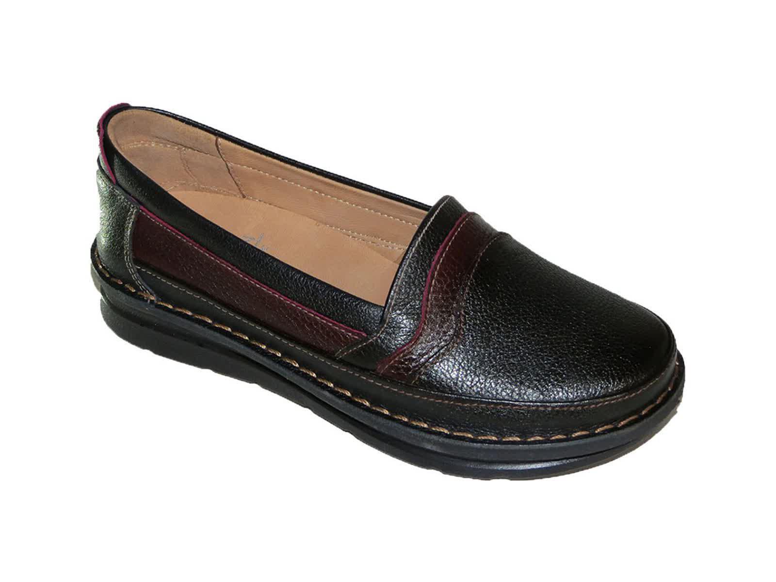 کفش کلارک زنانه مدل آنیل مشکی زرشکی