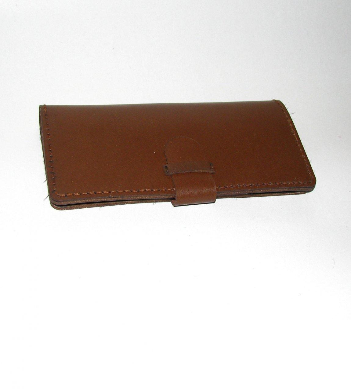 کیف پول کتی چرم طبیعی شتر رنگ شده