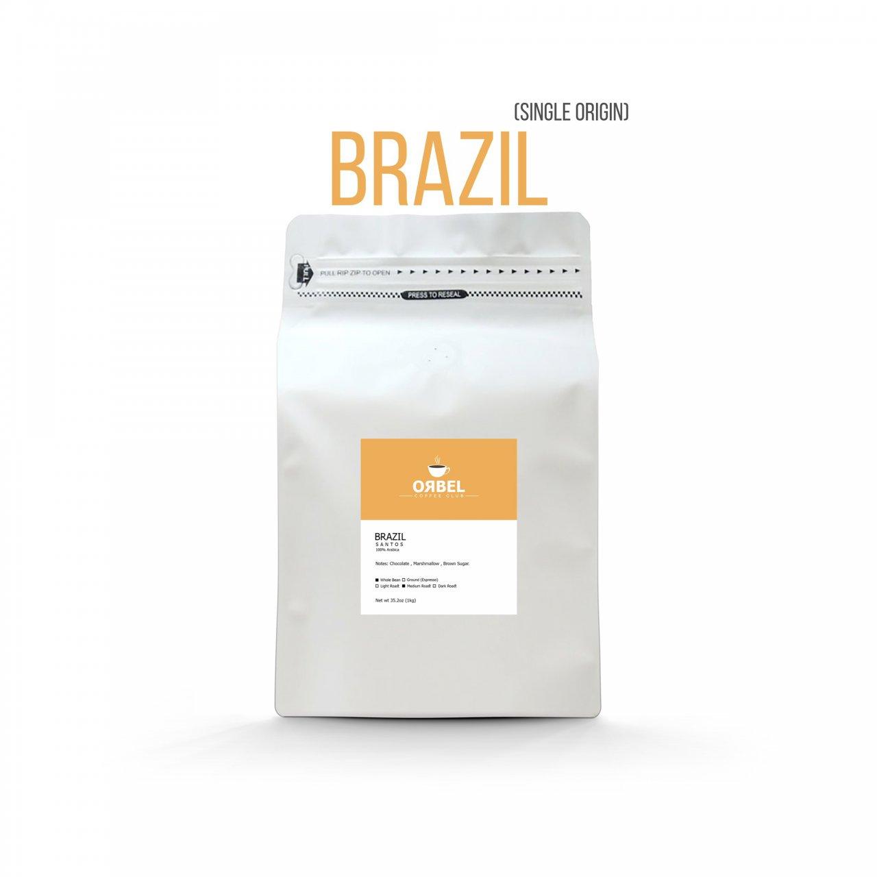 دانه قهوه اربل مدل برزیل سینگل اورجین 1 کیلوگرم