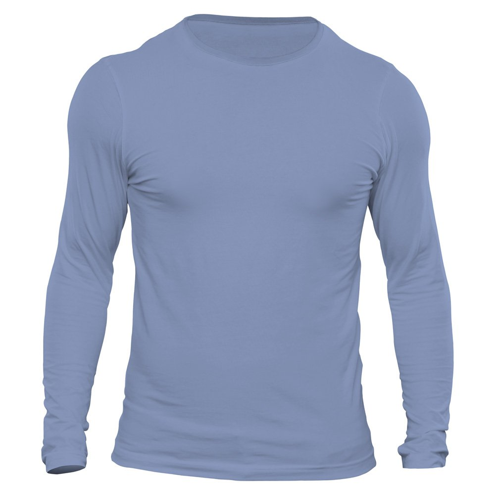 تیشرت آستین بلند مردانه کد 3LBU رنگ آبی روشن