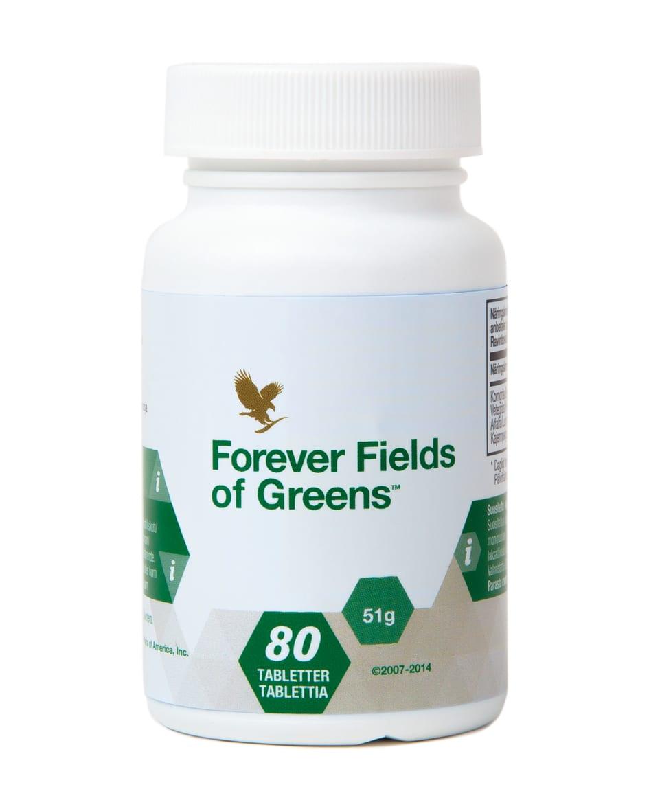 مکمل غذایی فوراور فیلدز آو گیرینز محتوی 80 قرص