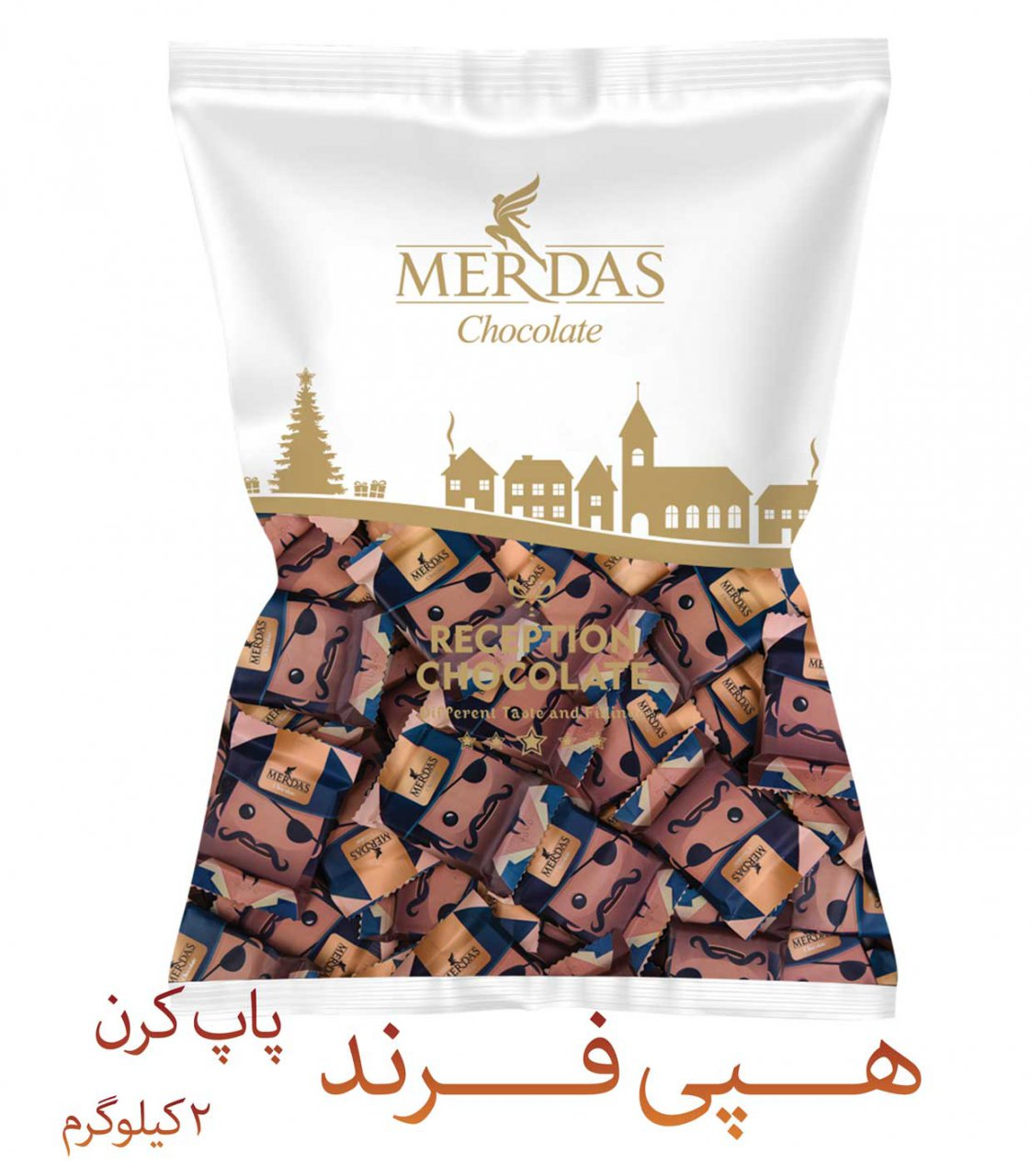 شکلات مرداس طرح هپی فرند پاپ کورن