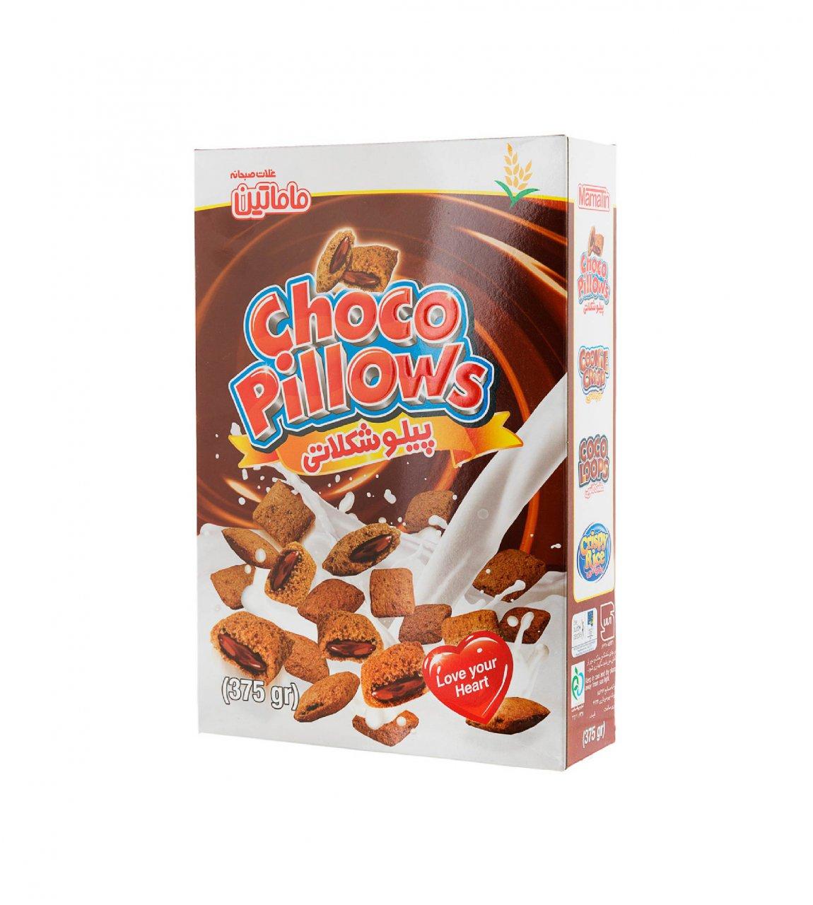 غلات صبحانه پیلو شکلاتی ماماتین 375 گرم