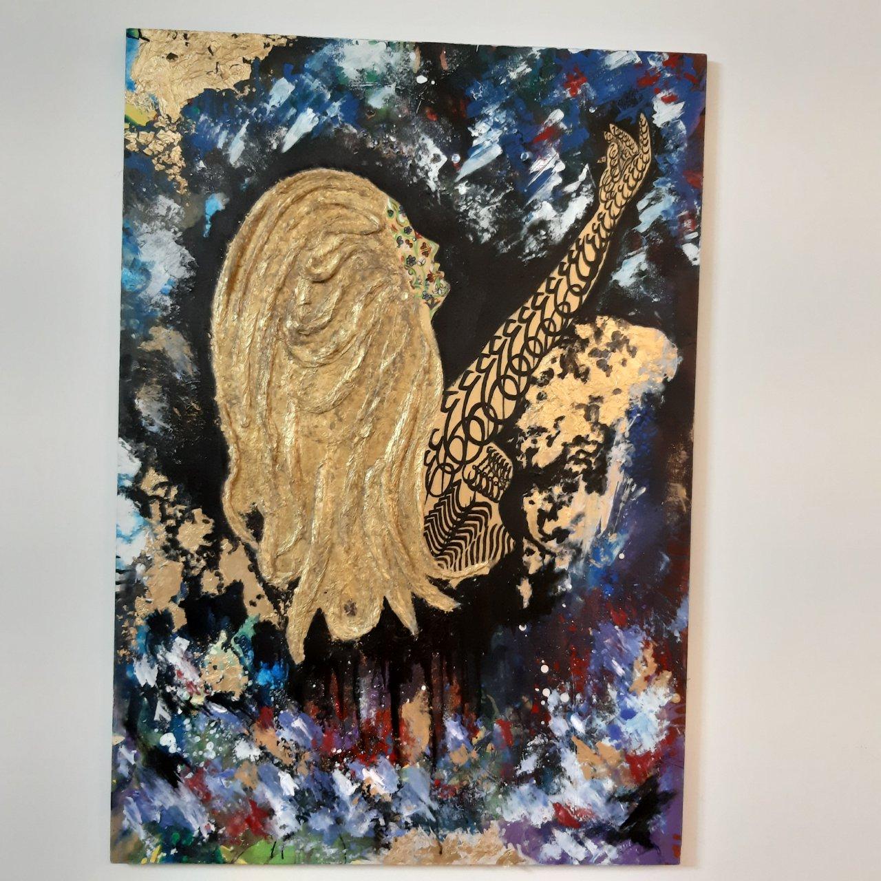 تابلو نقاشی طرح عشق الهی