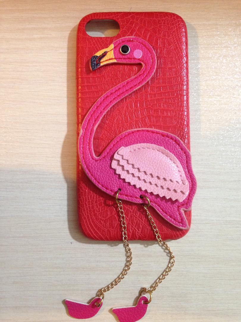 کاور طرح فلامینگو قرمز کد 001 مناسب گوشی موبایل اپل آیفون 8