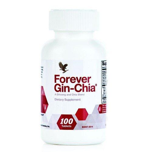 مکمل غذایی جین چیا حاوی جینسینگ و گلدن چیا Forever Gin Chia محتوی 100 قرص