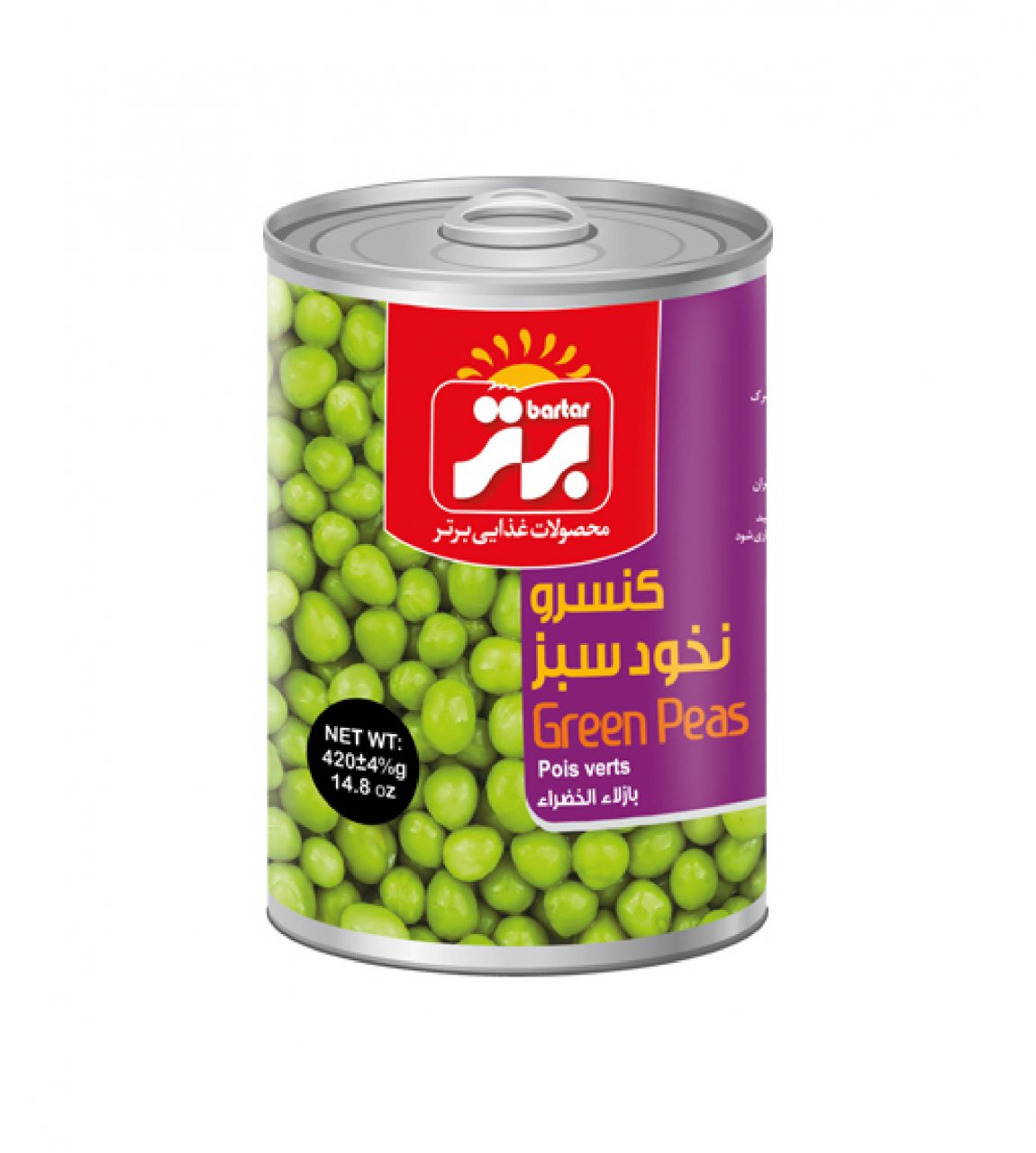 کنسرو نخود سبز 420 گرم برتر