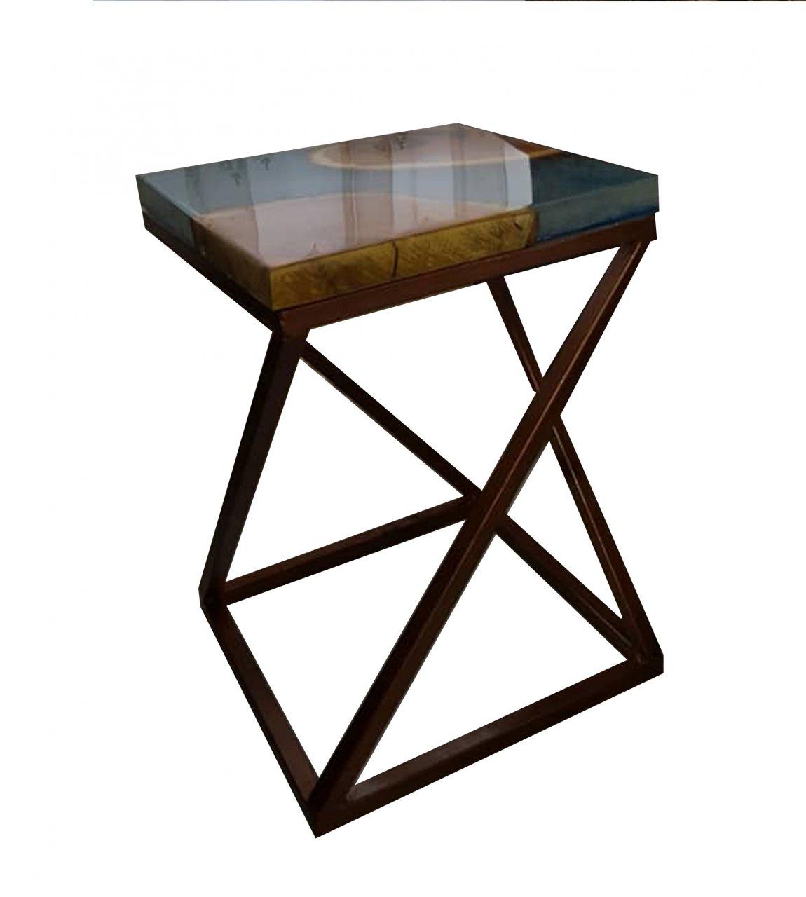 میز ترکیبی چوب و رزین