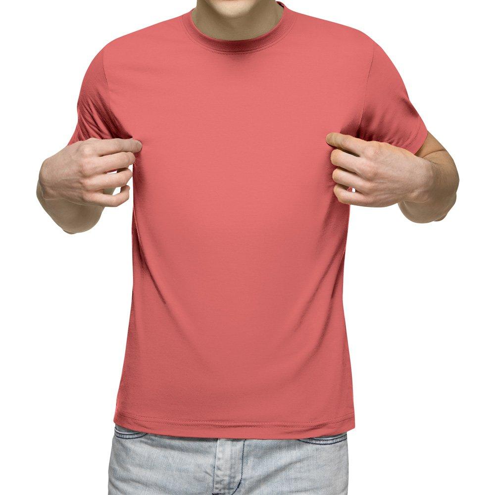 تیشرت آستین کوتاه مردانه کد 1SPI رنگ سال ۲۰۱۹ - مرجانی