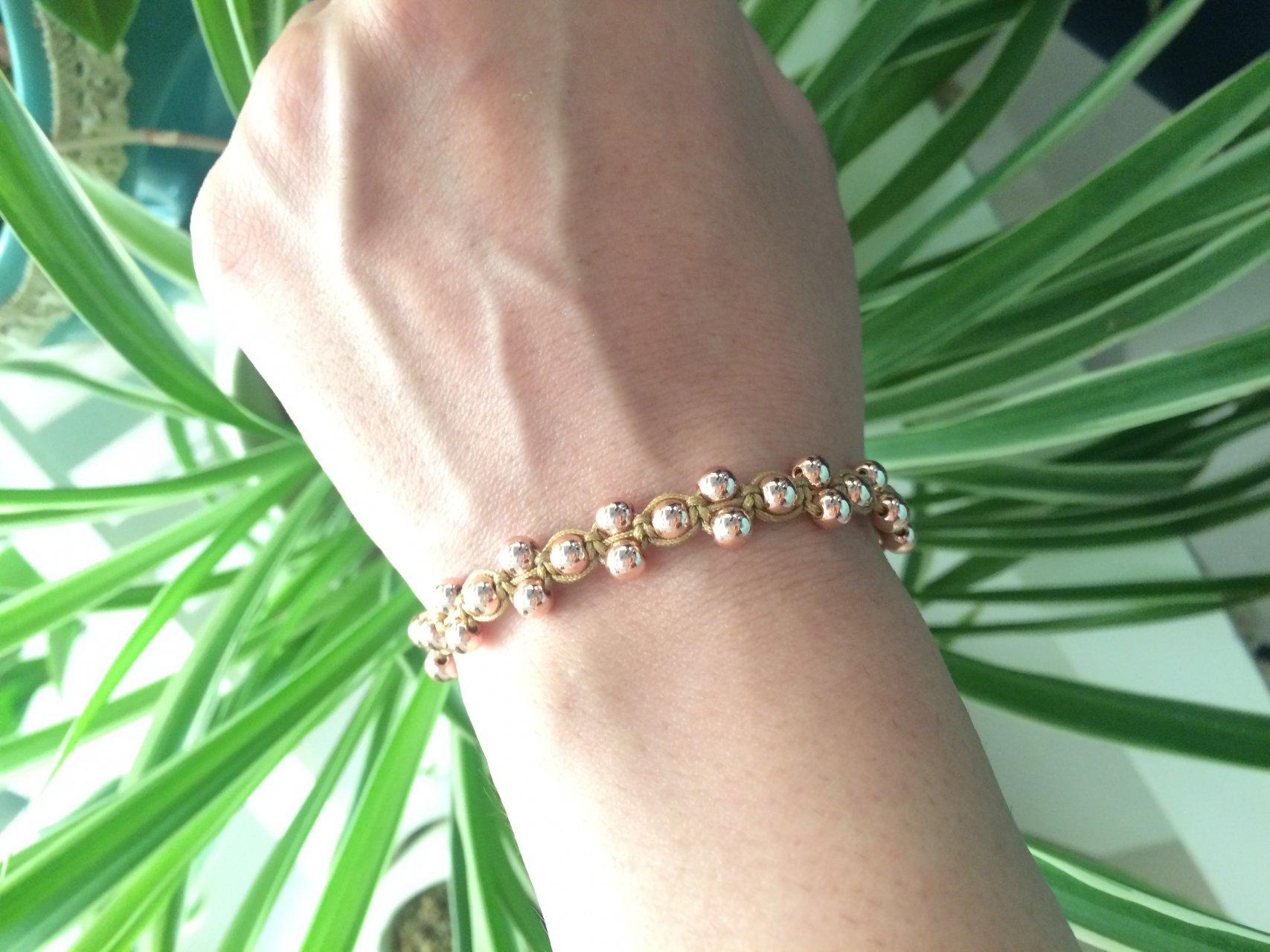 دستبند سنگ حديد و بافت