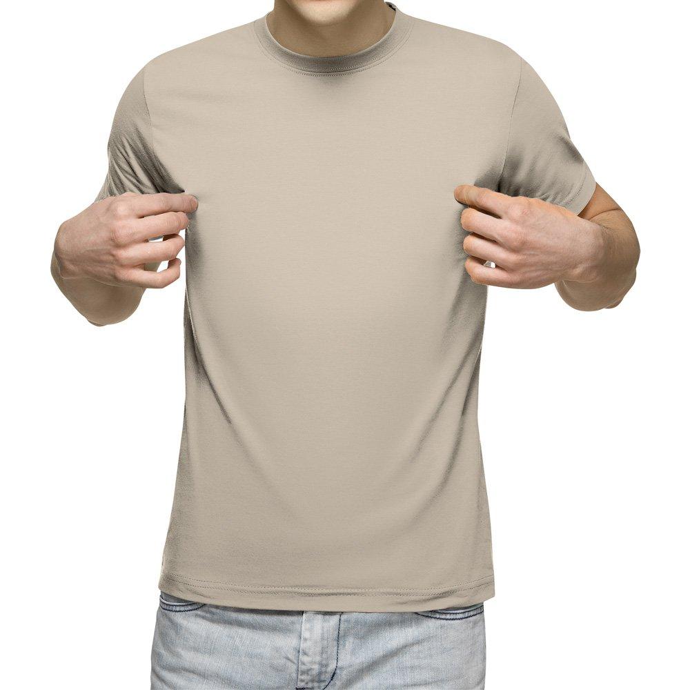 تیشرت آستین کوتاه مردانه کد 1WCR رنگ کرم روشن