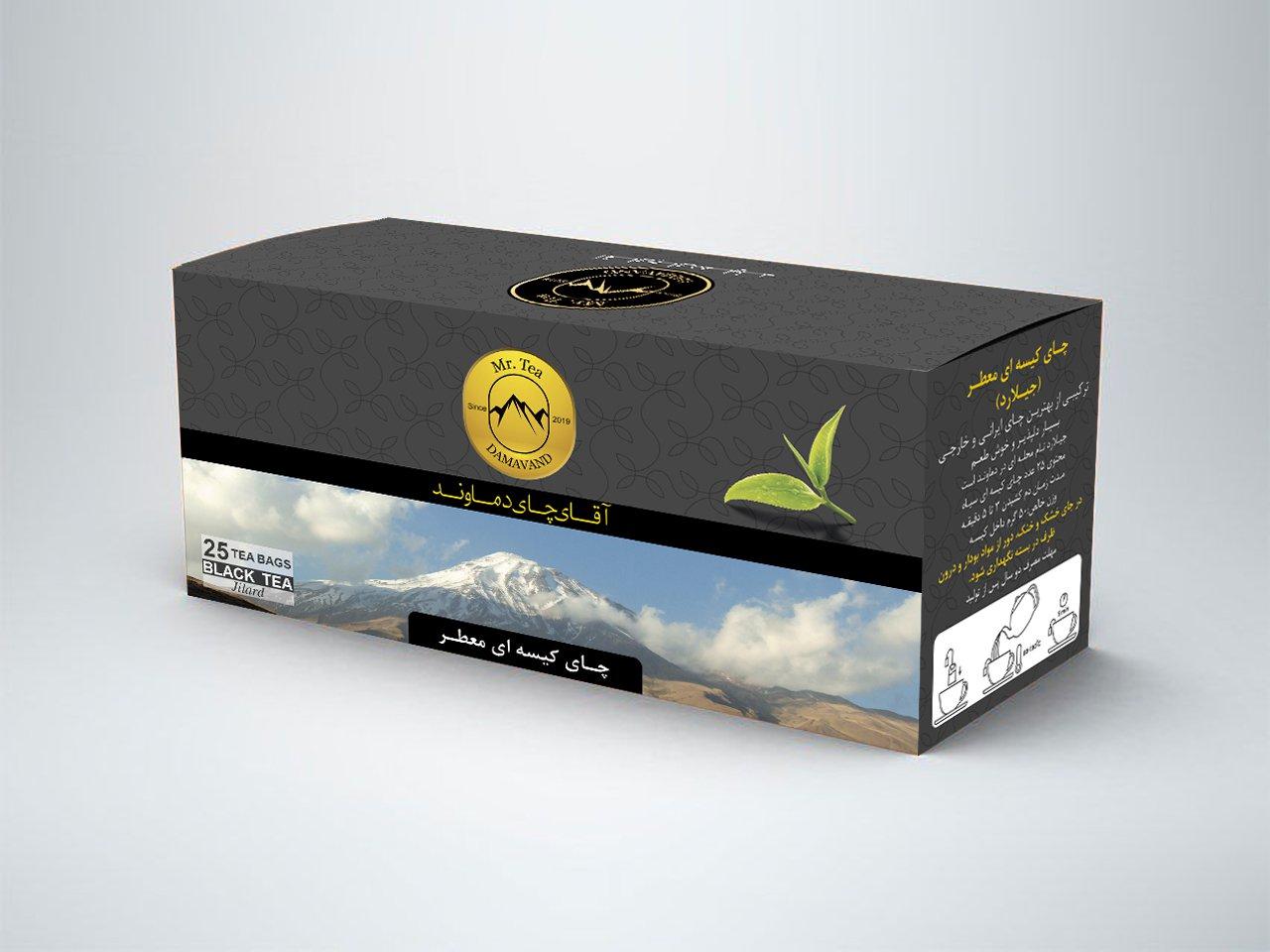 چای کیسه ای 25 عددی عطری دماوند بسته 5 عددی