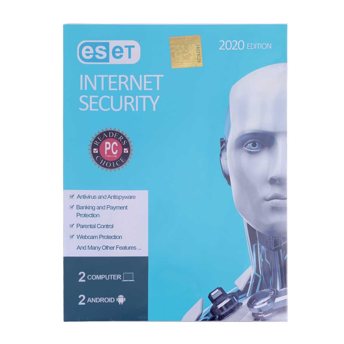 آنتی ویروس ESET INTERNET Security 2020 اورجینال یکساله (2 PC 2 + Android)