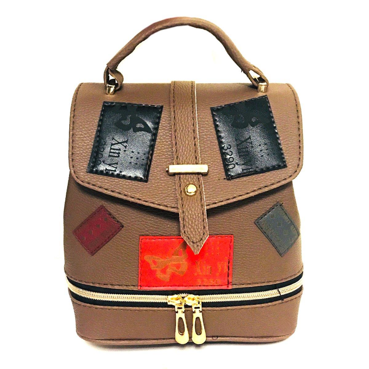 کیف مدل کوله پشتی فانتزی-اسپرت زنانه قهوه ای