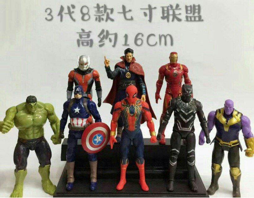 اکشن فیگور مدل Avengers بسته 8 عددی