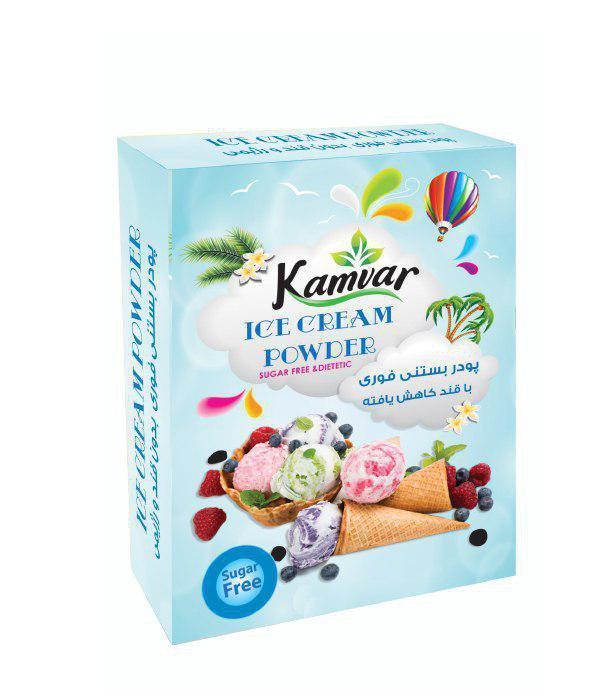 پودر بستنی وانیلی رژیمی کامور