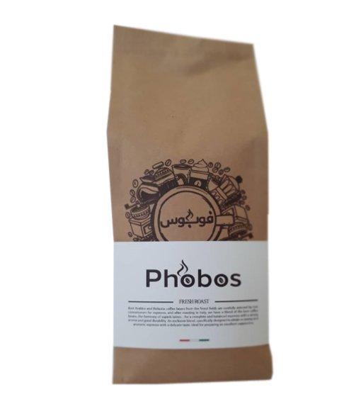 قهوه بوداده ۵۰%عربیکاو۵۰%روبوستا روست مدیوم ۵۰۰ گرم