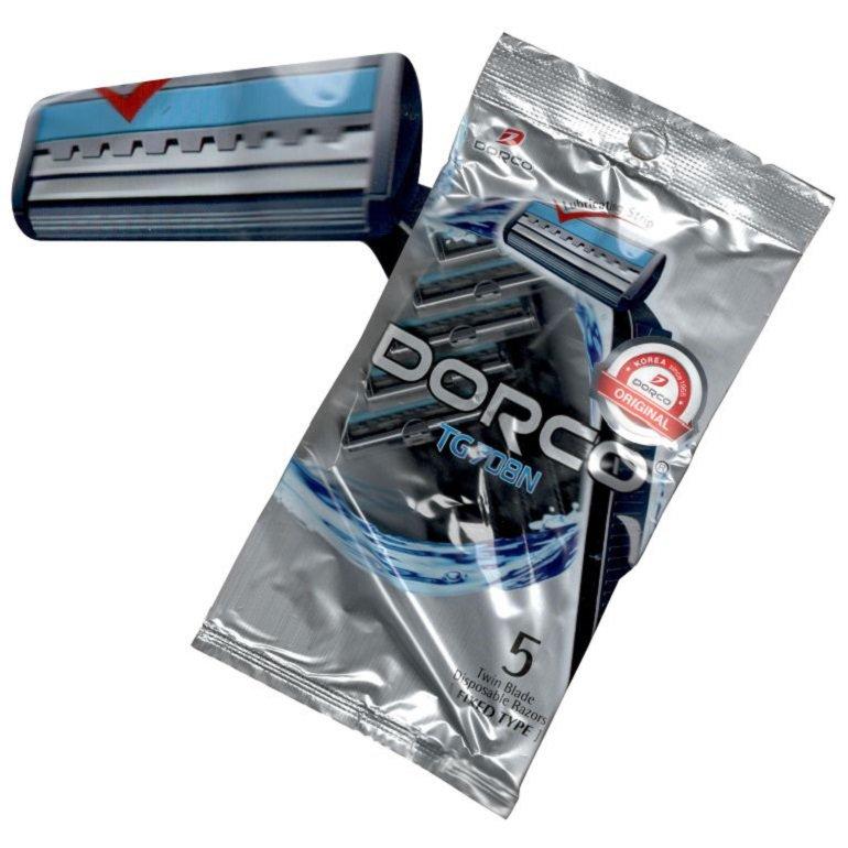 خود تراش دورکو صابون دار مدل TG708N بسته 5 عددی
