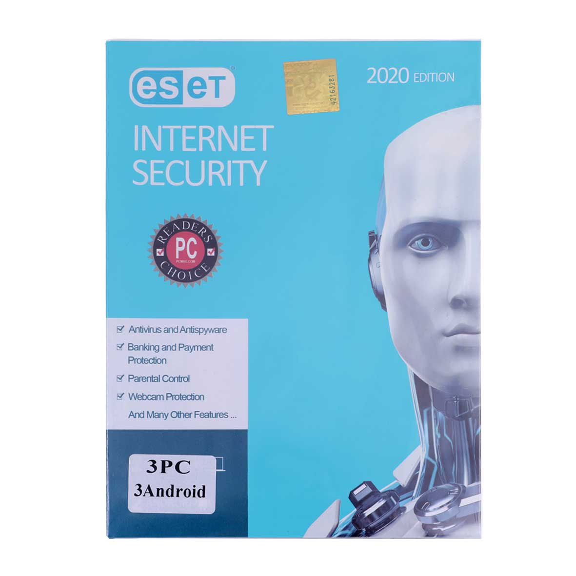آنتی ویروس ESET INTERNET Security 2020 اورجینال یکساله (PC 3+ Android3)