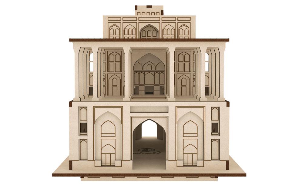پازل سه بعدی چوبی عمارت عالی قاپو