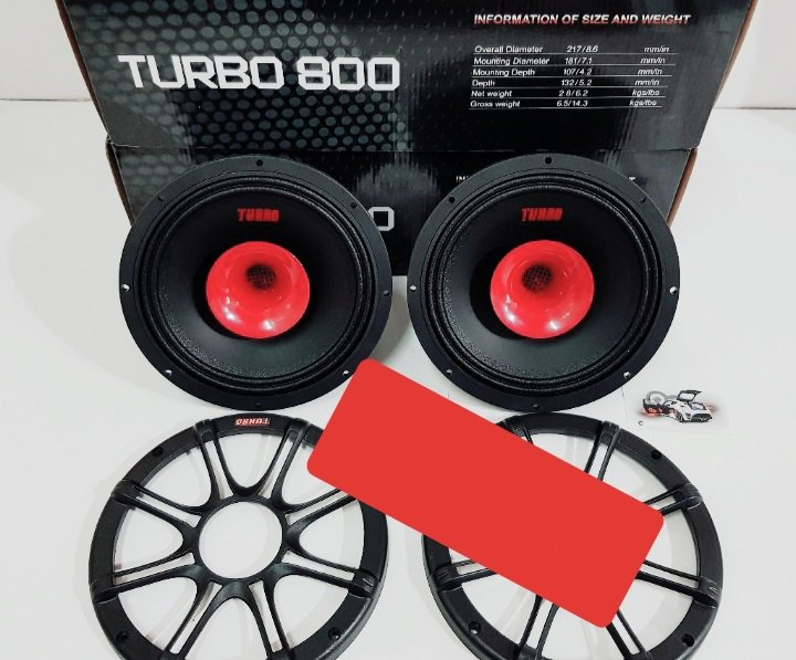 اسپیکر خودرو فول رنج ۸ اینچ turbo