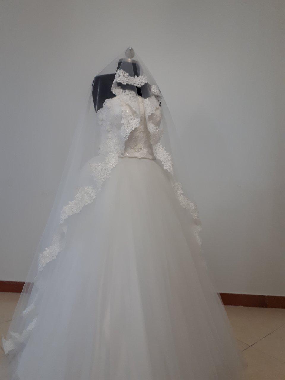 لباس عروس مدل اسکارلت کد 2