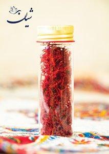 زعفران سرگل درجه یک قائنات یک مثقال بسته بندی استوانه ای