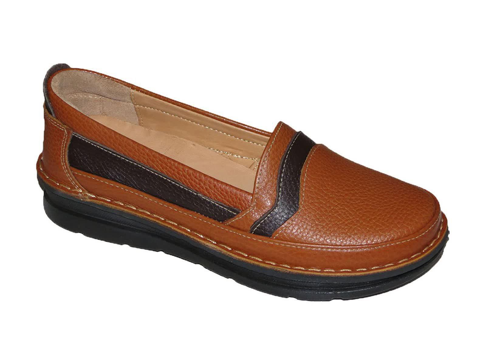 کفش کلارک زنانه مدل آنیل عسلی قهوه ای