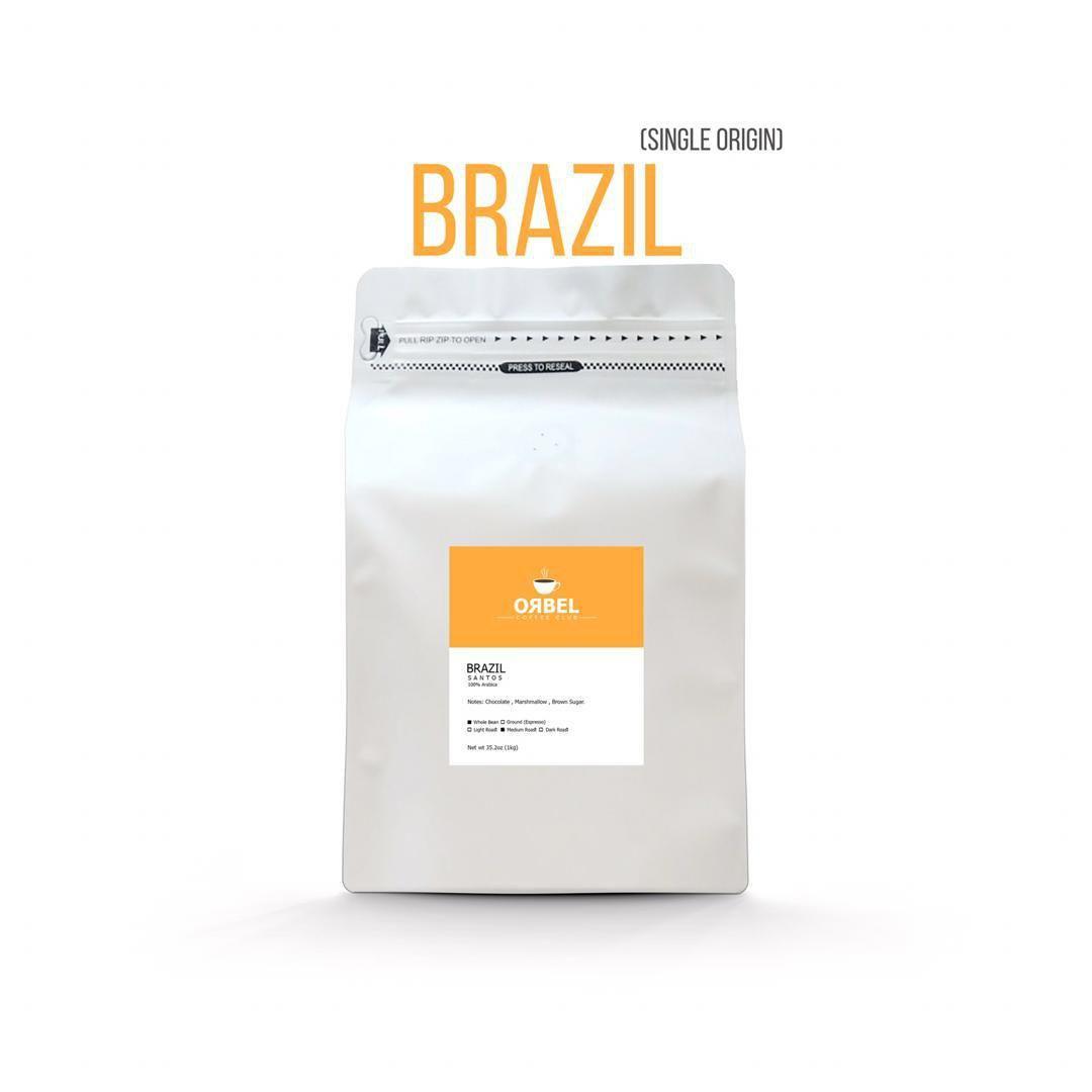 دانه قهوه برزیل سانتوس 1 کیلوی