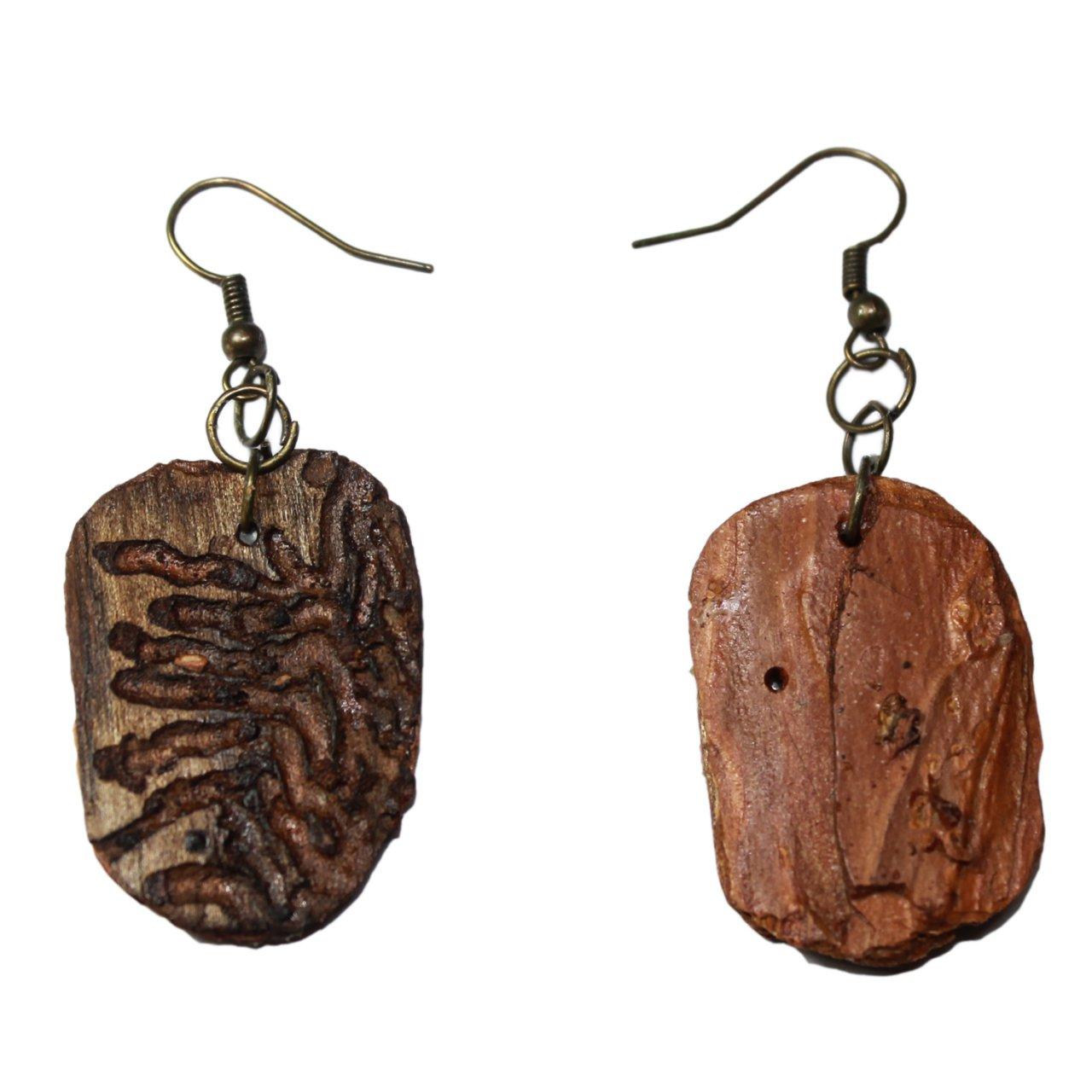 گوشواره زنانه طرح چوب درخت کد 11