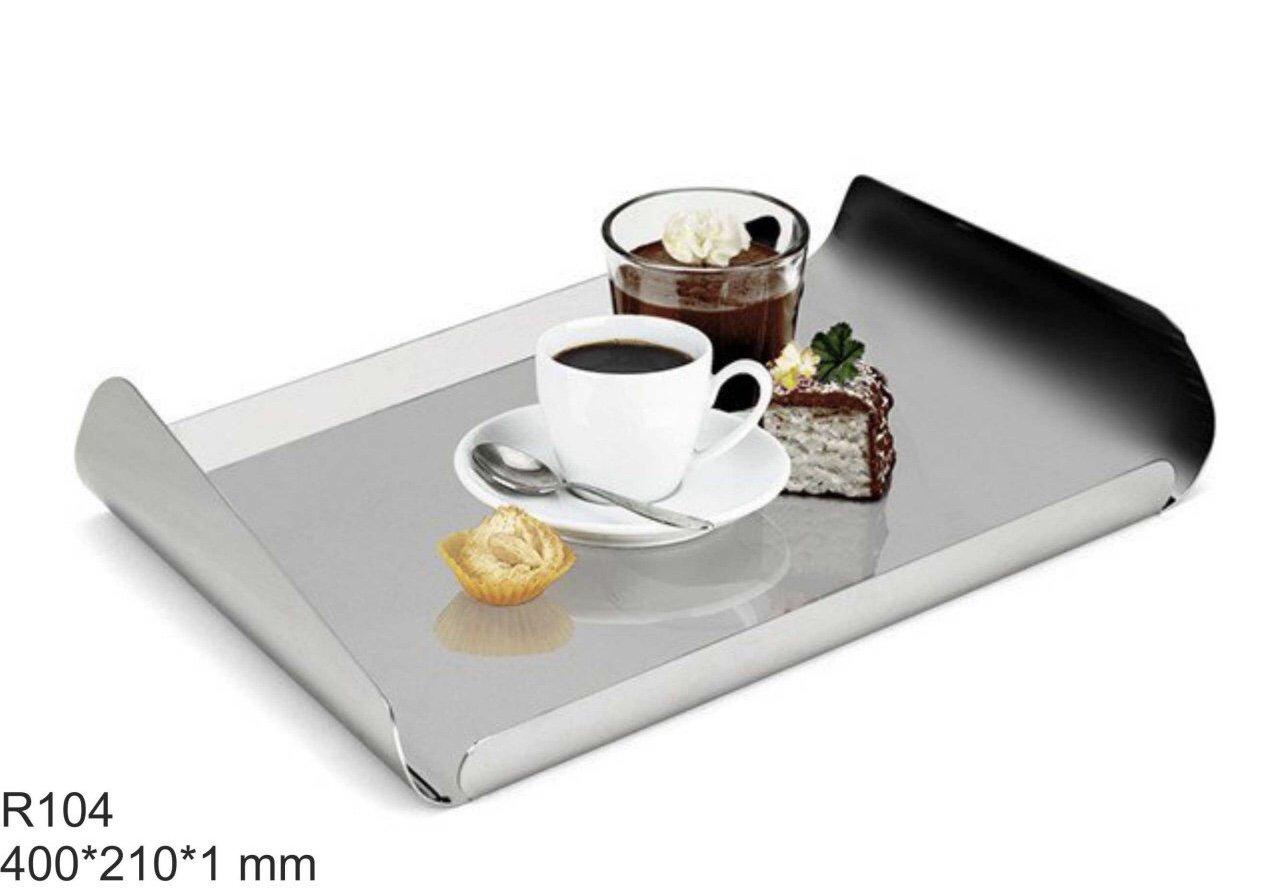 سینی استیل قهوه و رولت خوری