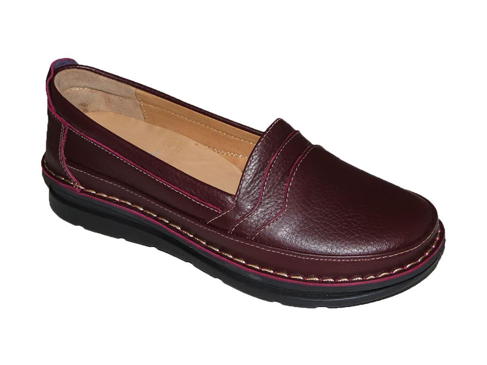 کفش کلارک زنانه مدل آنیل زرشکی