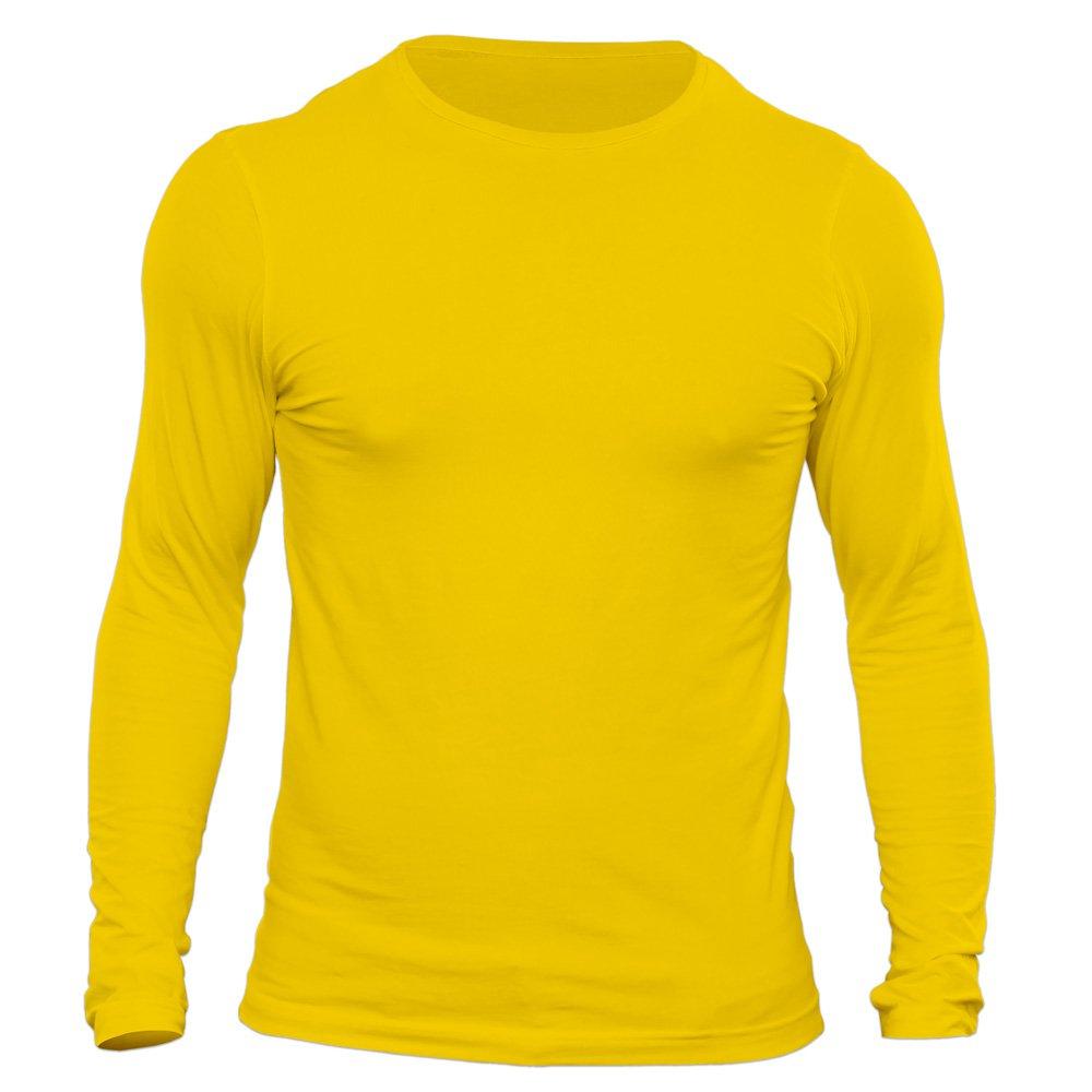 تیشرت آستین بلند مردانه کد 3SYL رنگ زرد