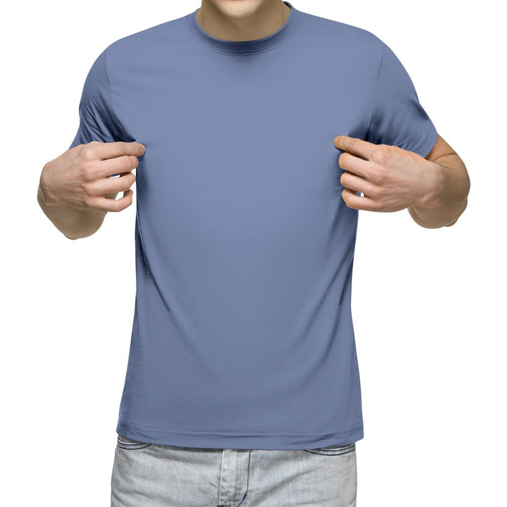 تیشرت آستین کوتاه مردانه کد 1LBU رنگ آبی روشن