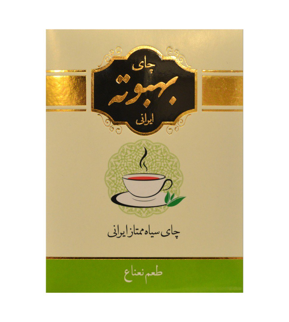 چای سیاه بهبوته ایرانی با طعم نعنا 400 گرم