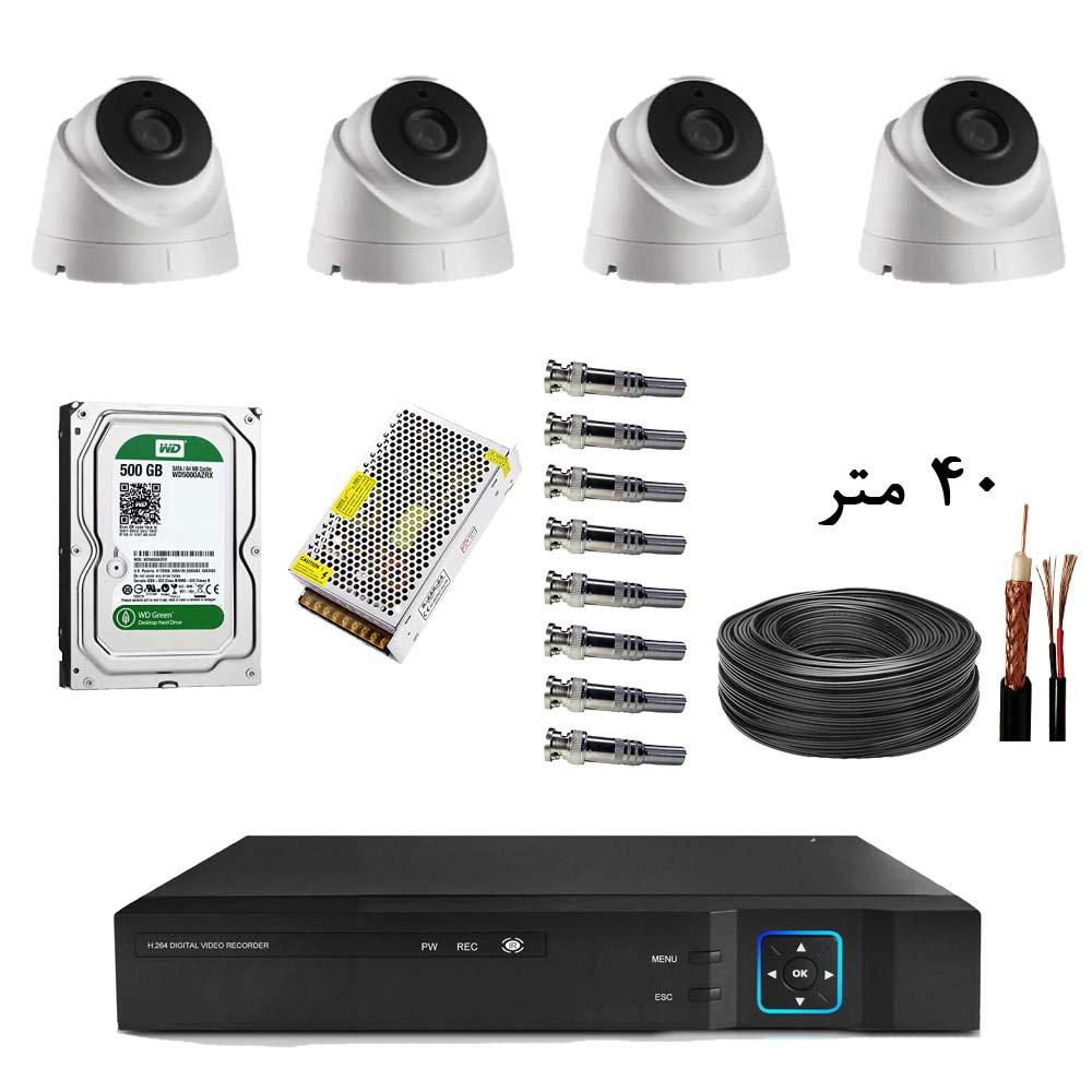 پک آماده نصب 4 دوربین مدار بسته دام 2 مگاپیکسل کد 003