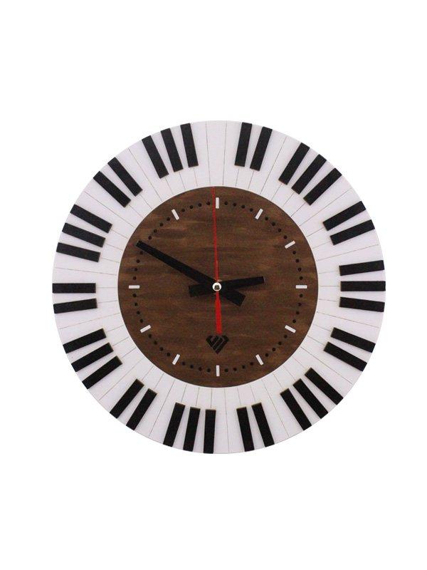 ساعت دیواری طرح کلاویه پیانو