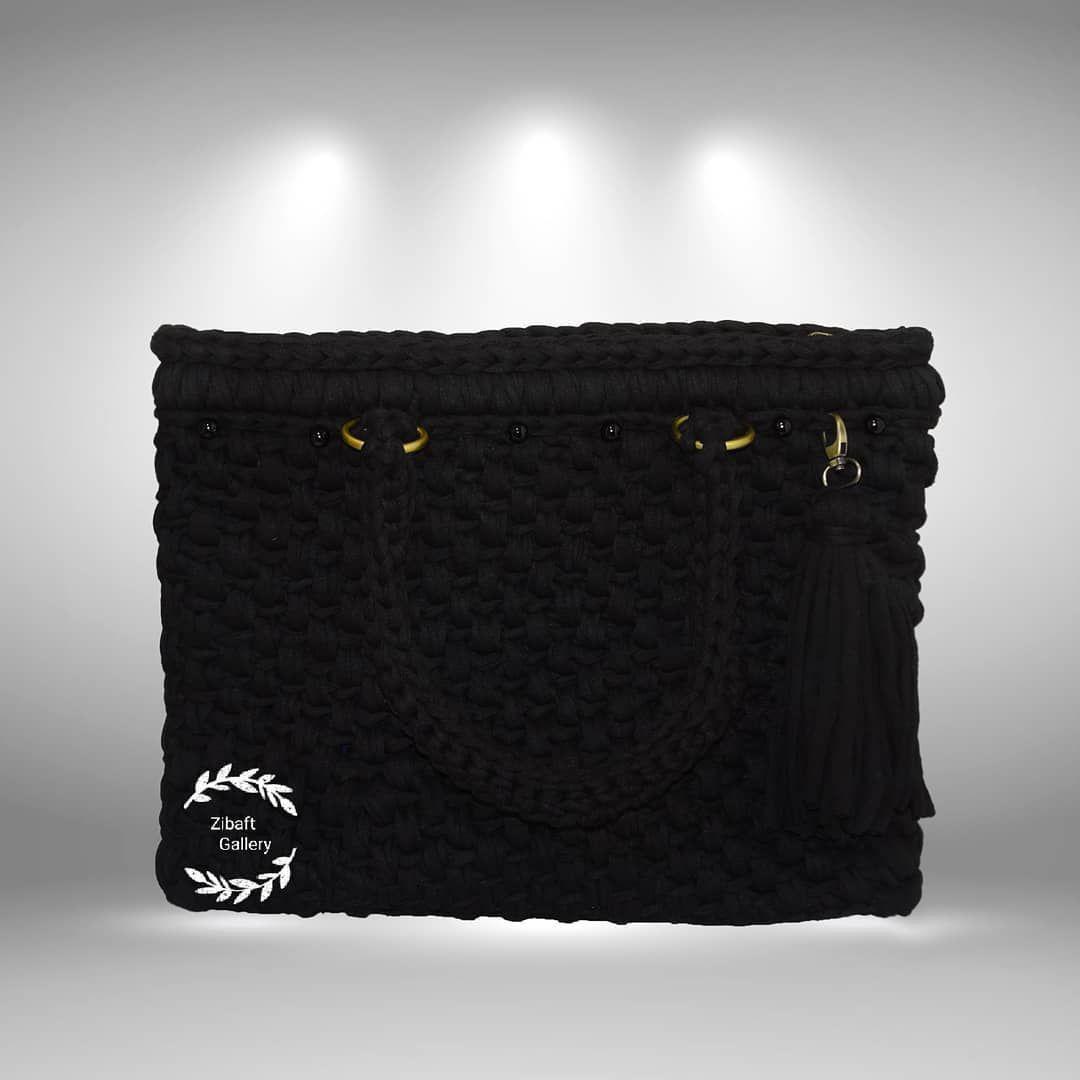 کیف تریکو دستبافت طرح پرگاس