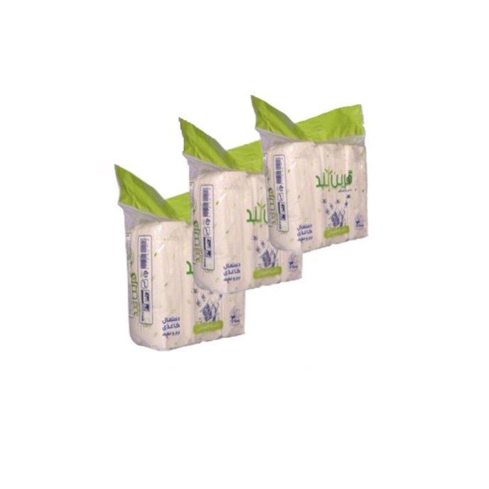 دستمال کاغذی ۳۰۰ برگ فله ای گرین لند پک 9 عددی