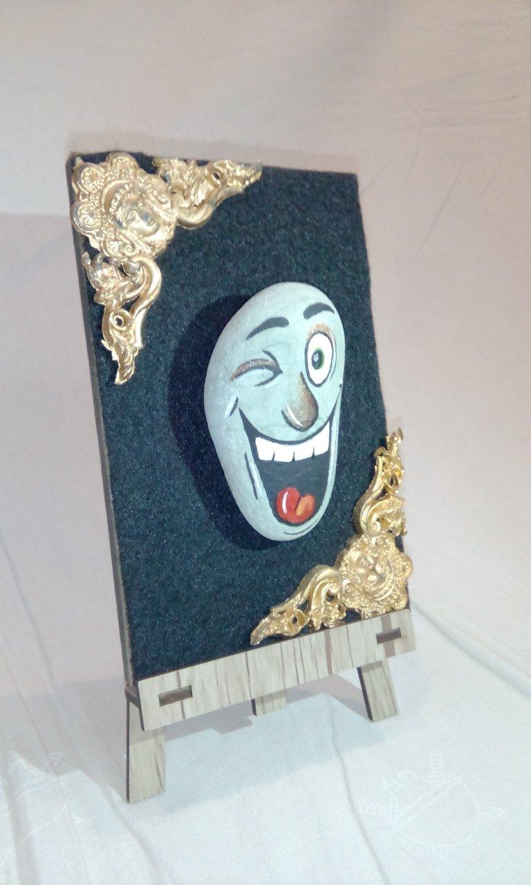 تابلو استيکر ديوارکوب طرح چهره کد 11