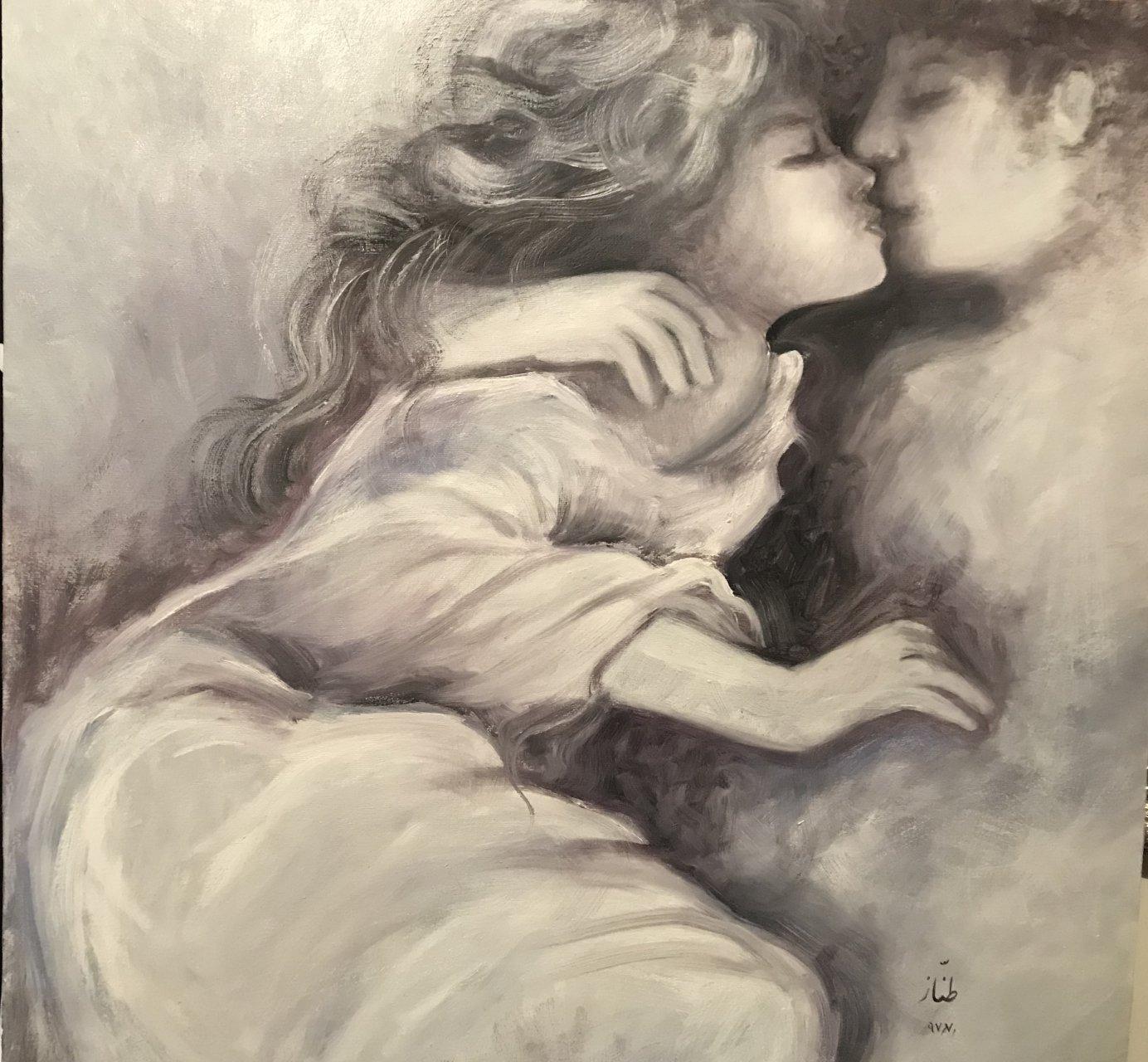 تابلو نقاشی طرح مادر