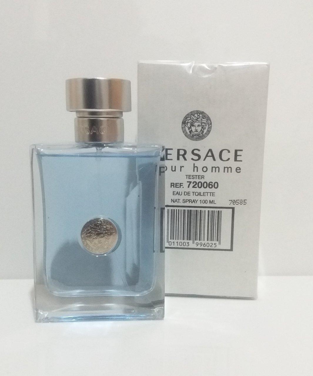 تستر ادو تویلت مردانه ورساچه مدل Versace Pour Homme حجم 200 میلی لیتر