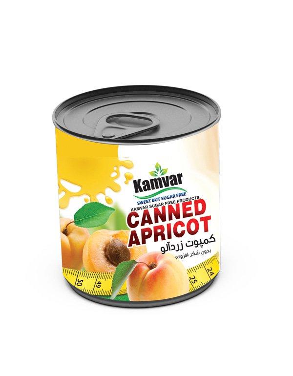 کمپوت زردآلو رژیمی کامور 380 گرم