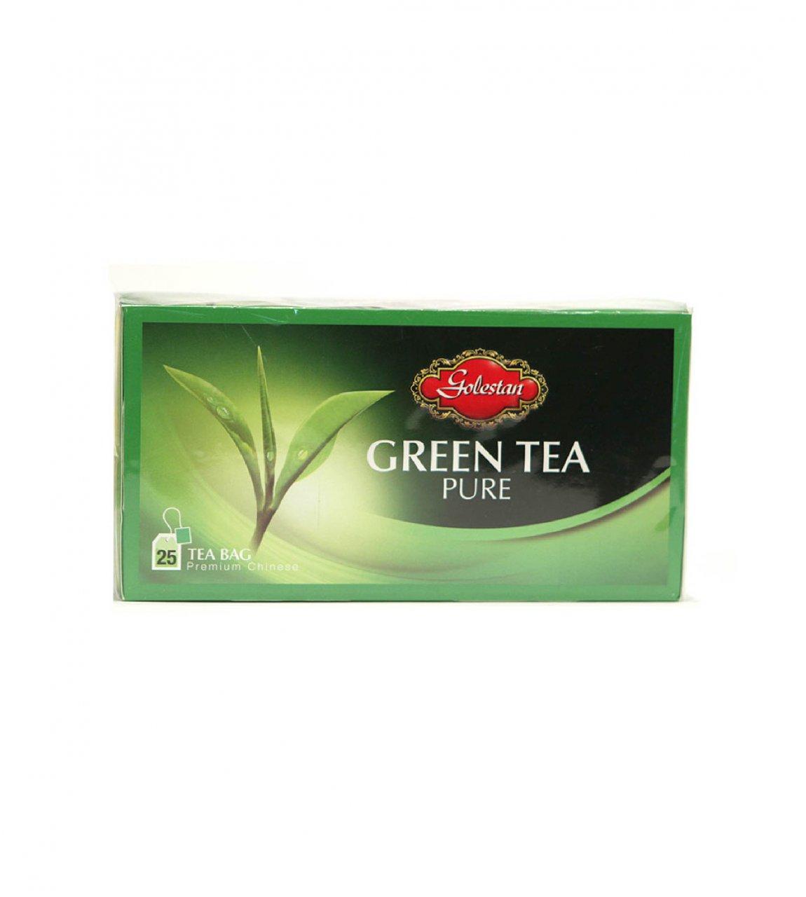 چای سبز خالص کیسه ای 25 عددی گلستان