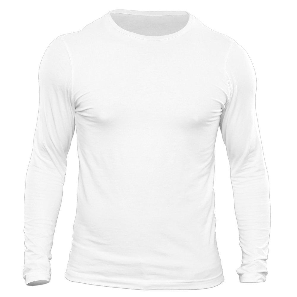 تیشرت آستین بلند مردانه کد 3BWH رنگ سفید