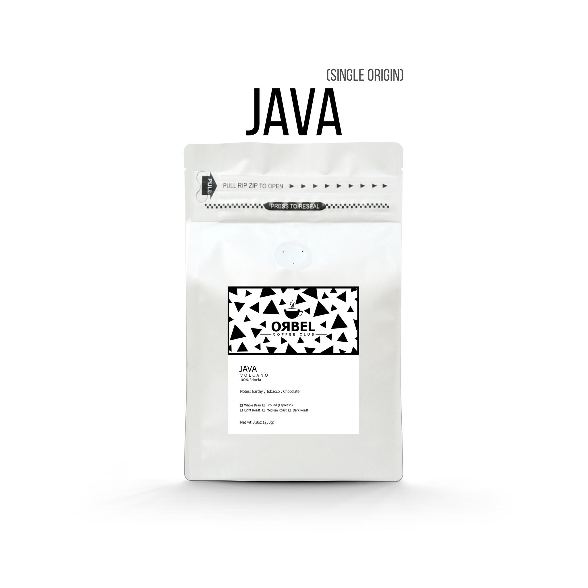 دانه قهوه اربل مدل جاوه روبوستا ۲۵۰ گرم